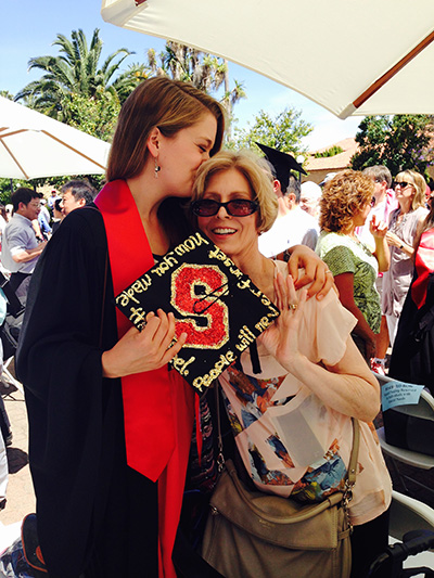 Camille and her mother at her college graduation.