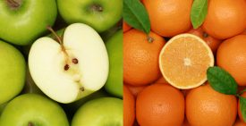 Collection of fresh fruits like oranges, cherries, lemons and apples