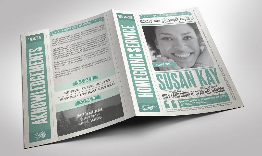 Instead Scroll Through The Funeral Program Templates At Creative Market Featuring Modern